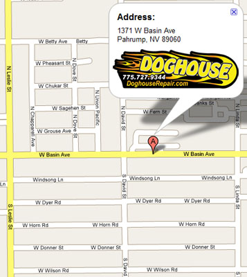 Contact us - Doghouse Repair