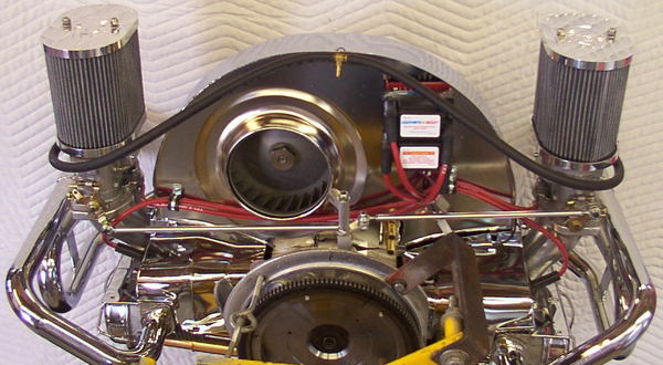 fan shroud external cooler type w/o ducts 36 hp shape chrome Empi