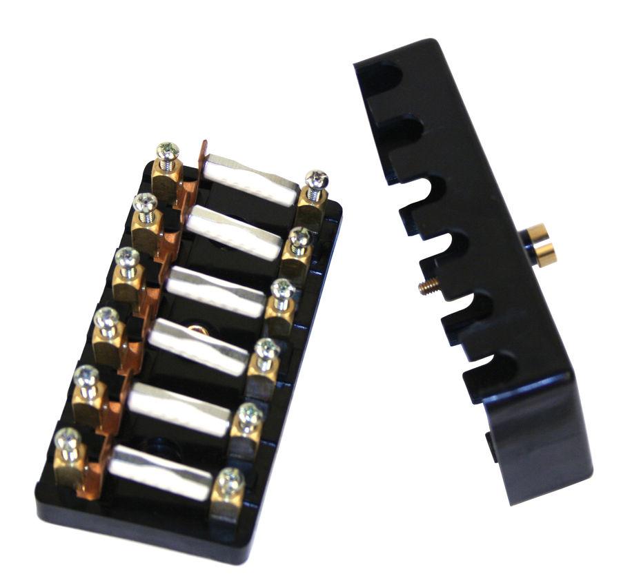 Fuse Block 6 Circuit 25 Amp Ceramic Empi