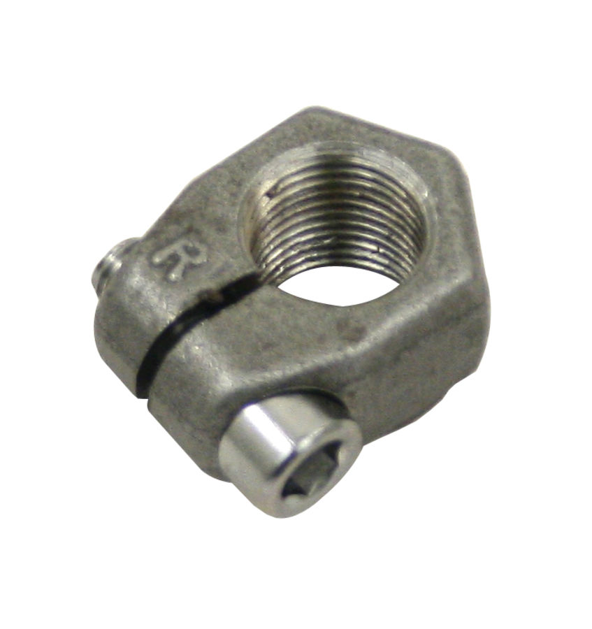 Spindle nut for ball joint clamp w screw