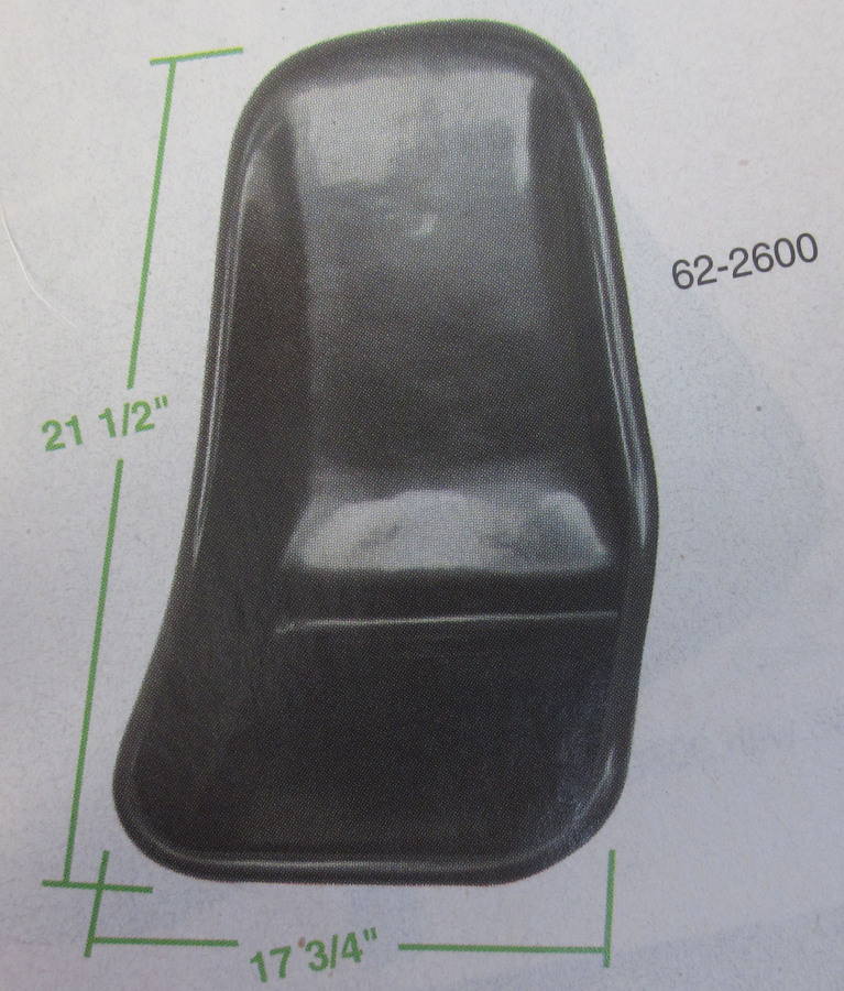 seat - low back plastic - lighter & better than fiberglass Empi