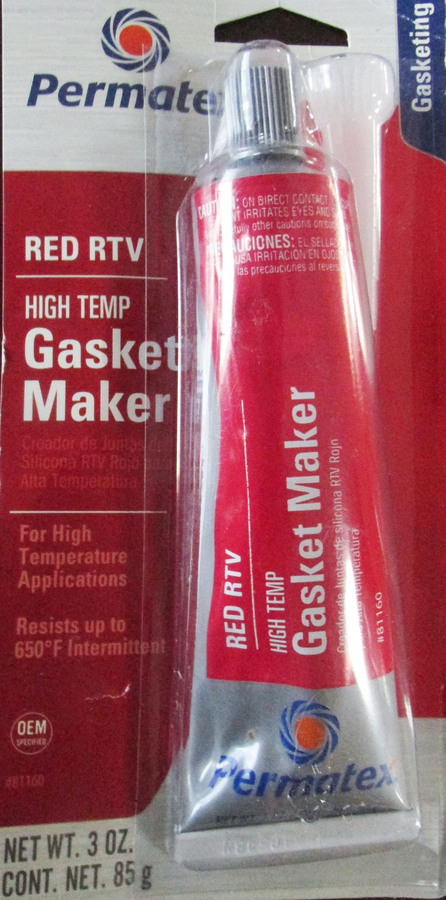 gasket maker HI TEMP RTV IN RED squeeze tube 3