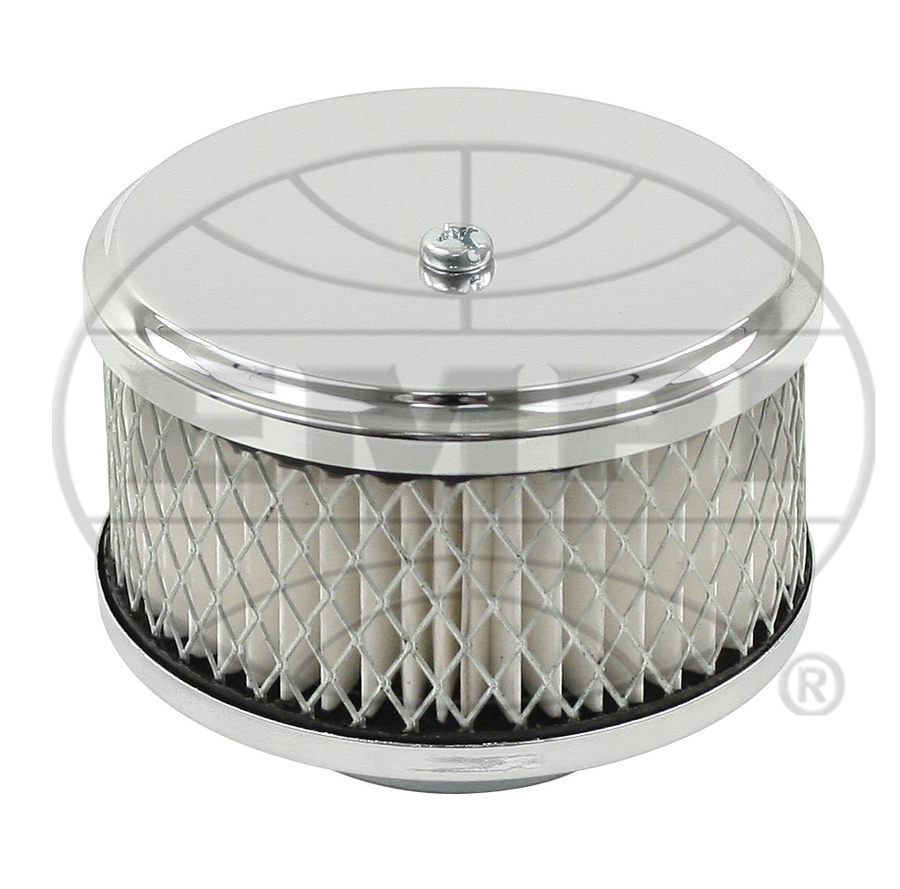 Round Air Filter Paper : Air filter chrome for quot neck solex r tall