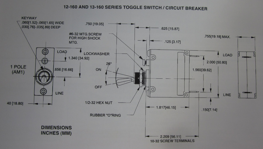 toggle switch/ circuit breaker 20 amp triple sealed K-Four ...