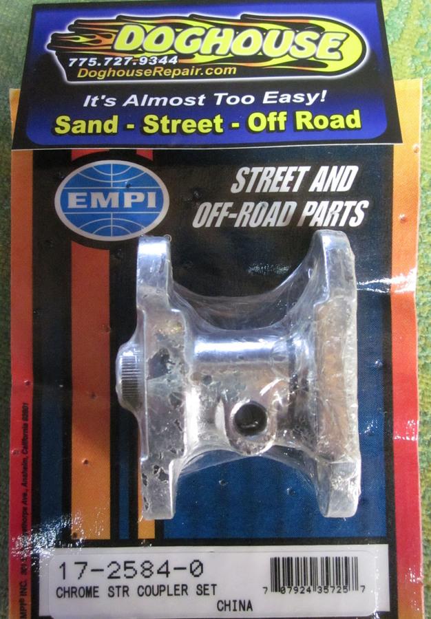 steering box coupler set T 1 chromed for oe vw steering box Empi