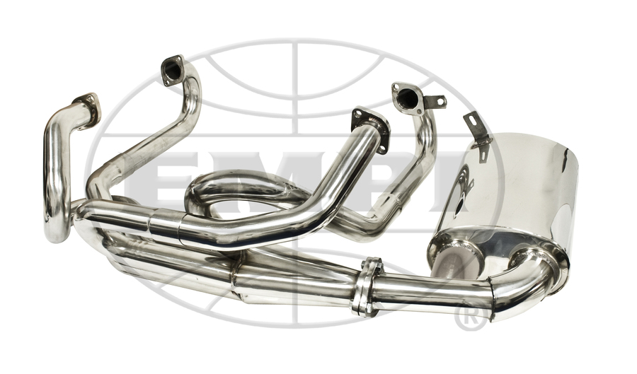 Merged Exhaust System 1 58 Sideflow Stainless Steel Premium Empi: Empi Vw Exhaust At Woreks.co