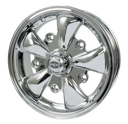 rim wide 5 pattern 5 spoke Empi chrome alloy 15 x 5.5 GT-5