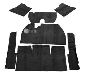carpet kit 7 piece bug 58-68 front & rear black Empi loop w/o footrest
