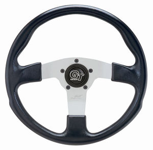 "steering wheel 13"" alloy silver 3 spoke 3"" deep dish - Grant Empi"
