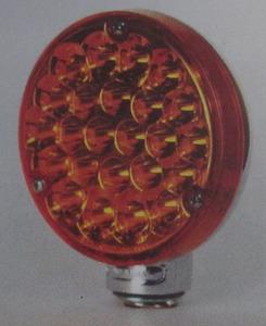 taillight LED chrome back Amber lens round - K-Four