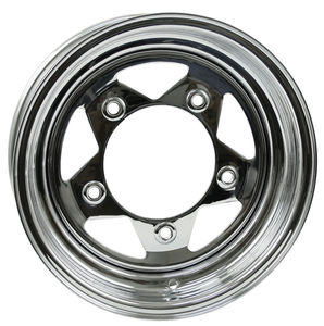 rim wide 5 pattern 5 spoke steel chrome 15 x 5 Empi