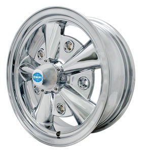 rim wide 5 pattern 5 spoke Empi chrome alloy 15 x 5.5 - 5 Rib