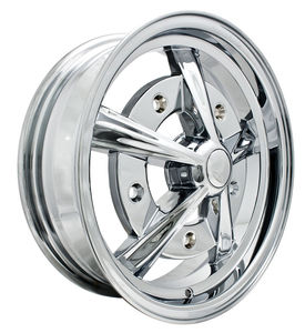 rim wide 5 pattern 5 spoke Empi chrome alloy 15 x 5 Raider