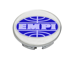 wheel cap replacement low cap chrome Empi logo for BRM New Beetle wheels