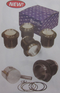 piston & cylinder set 87mm Hypereutectic 1641cc AA Empi slip