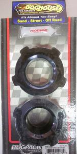 "Soft Spring Plate Grommets knobby 1 3/4"" USA Bugpack black Empi"