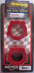 "bushing set spring plate 1 3/4"" knobby pair urethane USA Bugpack RED Empi"