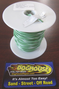 Primary wire 18 gauge green & white striped K-Four 100'