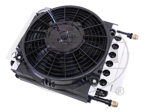 oil cooler & fan kit 16 pass cooler w/ fan attached - Empi
