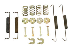 hardware kit & rear brake springs, bug & ghia 58-66