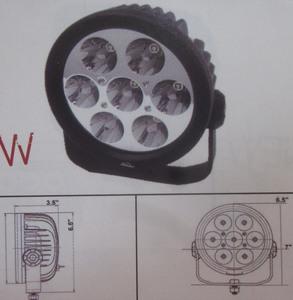 Discovery 10 watt single LED light - flood Black 7 LED's Utility