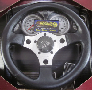 "steering wheel 12"" alloy silver 3 spoke 3"" deep dish - Grant Empi"