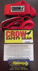 wrist restraint set wrist restraints Crow red