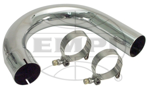 bend only pipe Chrome exhaust Empi