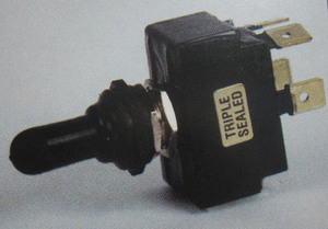 switch - toggle sealed OFF (ON) 20 amp double pole K-Four