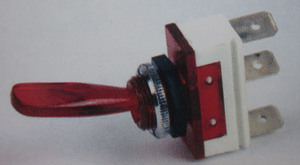 "switch - toggle OFF ON RED 1"" lever K-Four"