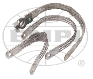 """battery ground strap braided 9""""  stud to stud Empi"""