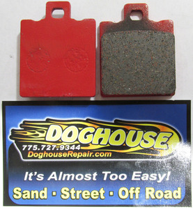 Disc brake pads set FRONT fits HS, FX & some RF1 style Rewaco - Germany Red