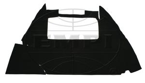 trunk lining carpet bug 54-59 1/2 & bug convertible black Empi loop