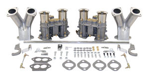 carb kit dual 48 IDA for type 1 engines w/ std/ Race manifolds Weber chrome Empi