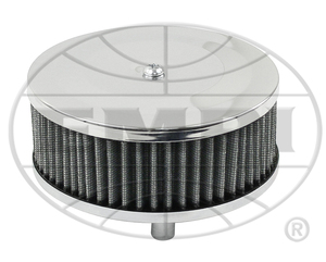 "air filter chrome for Solex 2 1/16"" 5 1/2"" R x 2 1/8"" tall gauze Empi"