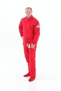 driver suit Crow Quilted 2 layer 1 piece suit Dale Antiflame SFI-5 Red Medium