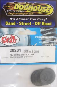 "rocker shaft shim set .015"" thick Scat"