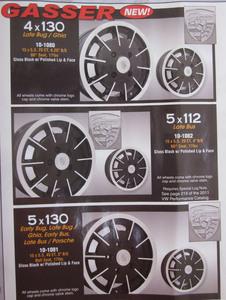 Gasser wheel 15 x 5.5 conical 25 ET Gloss Black & Polished