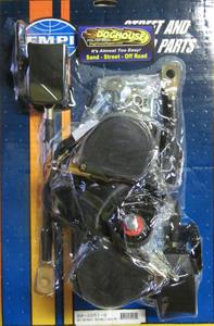 seat belt set lap/chest retractable PAIR bug 68-79 or bus Empi Black