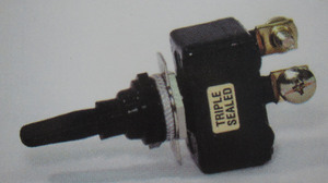 switch - toggle sealed ON OFF ON Black 50 amp single pole K-Four screw