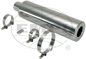 muffler street/offroad for up or down swept system Stainless Steel Empi