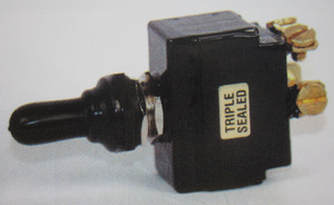 switch - toggle sealed (ON) OFF (ON) 20 amp double pole K-Four screw