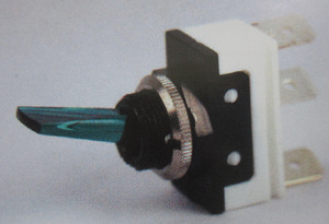 "switch - toggle OFF ON GREEN .65"" lever K-Four"