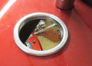 Gas cap ring - aluminum ring for ST body's at gas cap