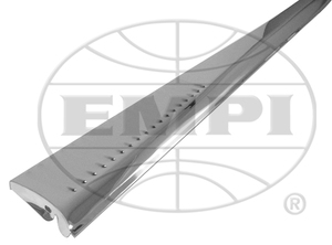 running board PAIR stainless steel louvered Empi