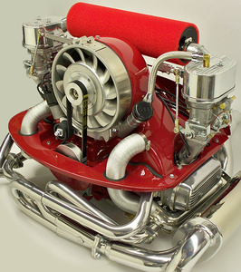 "High Flow Air Filter - 19 1/2"" RED fits with Bergmann Porsche kits only"
