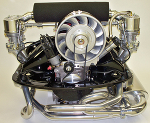 "fan shroud kit 12 blade Porsche style 5.4"" rod kit for type 1 engine no heat Bernie Bergmann painted"