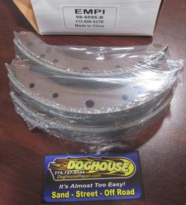 brake shoe set of 4 rear bug 58-64