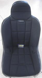 seat - Race-Trim high back super seat black vinyl & black fabric 21