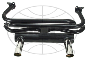 exhaust street system merged header 2 tip GT 40 hp/1200cc painted Empi